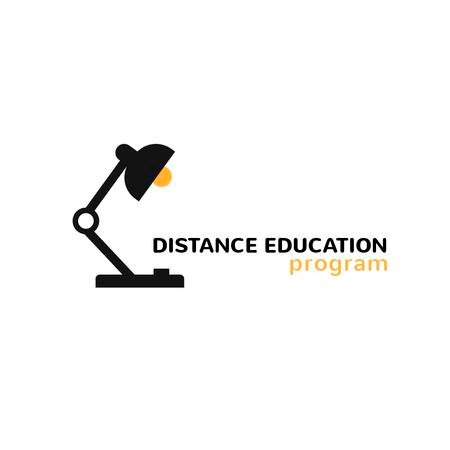 Modèle de visuel Education Program with Lamp Icon - Logo