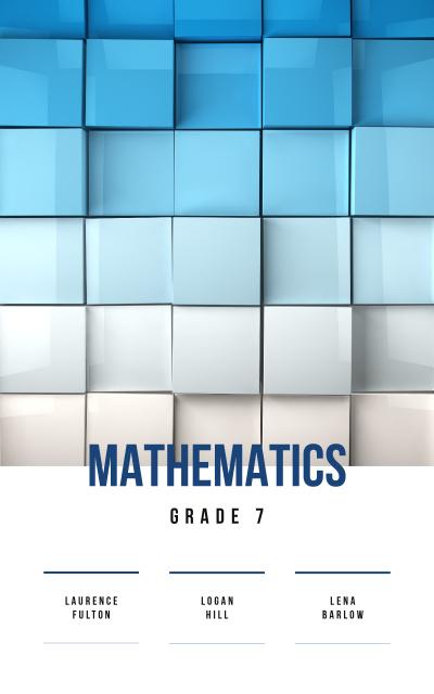 Modèle de visuel Mathematics Lessons Cubes in Blue Gradient Color - Book Cover