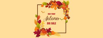 Autumn Sale Announcement in Leaves Frame
