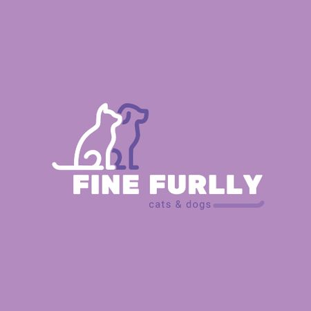 Template di design Pets Cat and Dog Icon Animated Logo