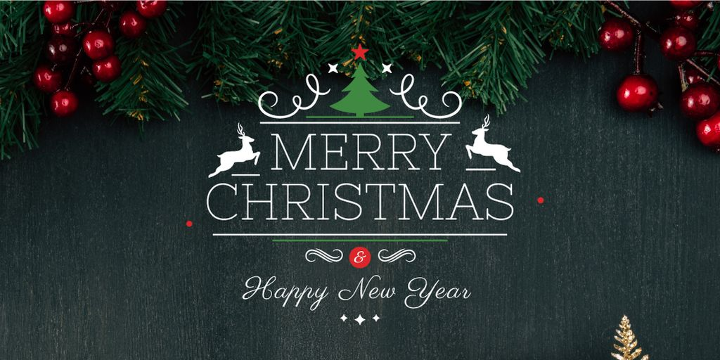 Christmas greeting card  — Design Template