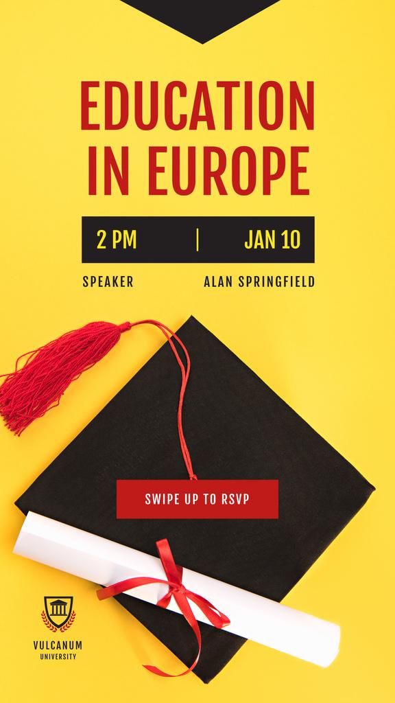 Education Program Graduation Cap and Diploma — Crear un diseño