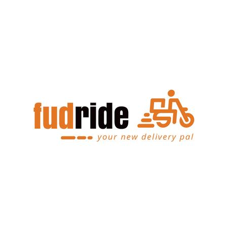 Plantilla de diseño de Delivery Services with Courier on Scooter Logo