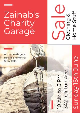 Charity Garage Sale Poster Modelo de Design