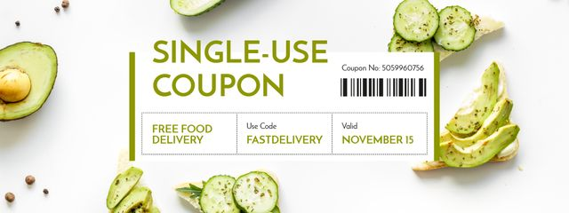 Plantilla de diseño de Free Food Delivery Offer Coupon