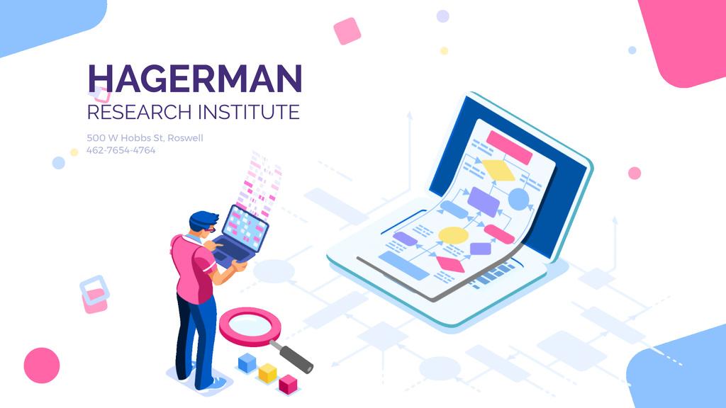 Businessman creating report on laptop – Stwórz projekt