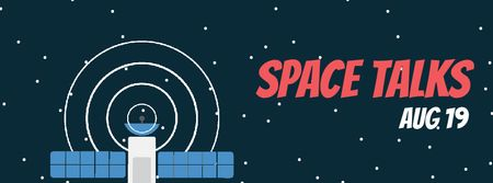 Plantilla de diseño de Satellite sending signal in space Facebook Video cover