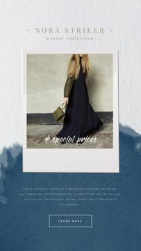 Clothes Ad with Woman in Stylish Outfit | Vertical Video Template