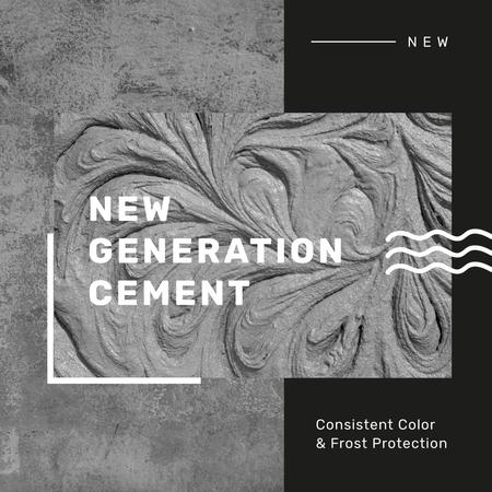 Plantilla de diseño de Grey Concrete Wall and Texture Instagram AD