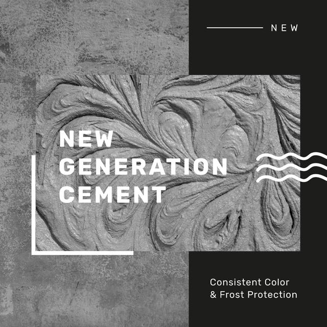 Plantilla de diseño de Grey Concrete Wall and Texture Instagram AD