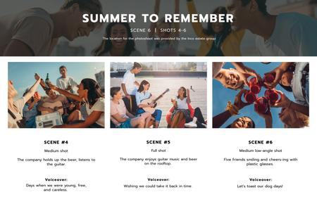 Template di design Friends having fun in Summer Storyboard