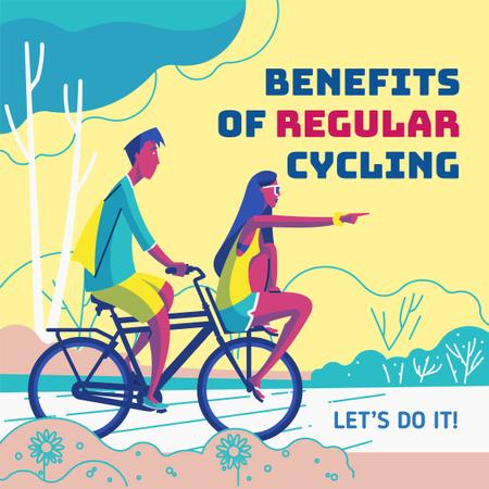 Plantilla de diseño de Couple riding tandem bike Instagram
