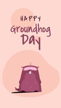 Happy Groundhog Day with Cute Animal