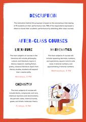 After-class Courses offer