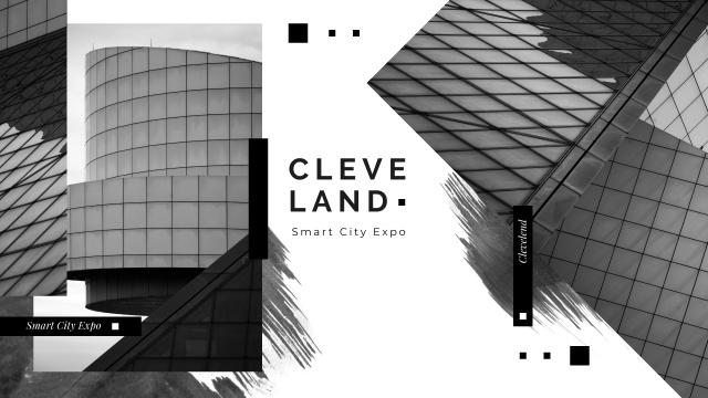 Plantilla de diseño de Modern glass building Youtube