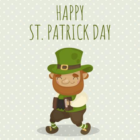 Ontwerpsjabloon van Animated Post van Saint Patrick's leprechaun