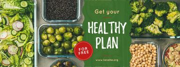 Healthy Food Concept with Vegetables and Legumes | Facebook Cover Template