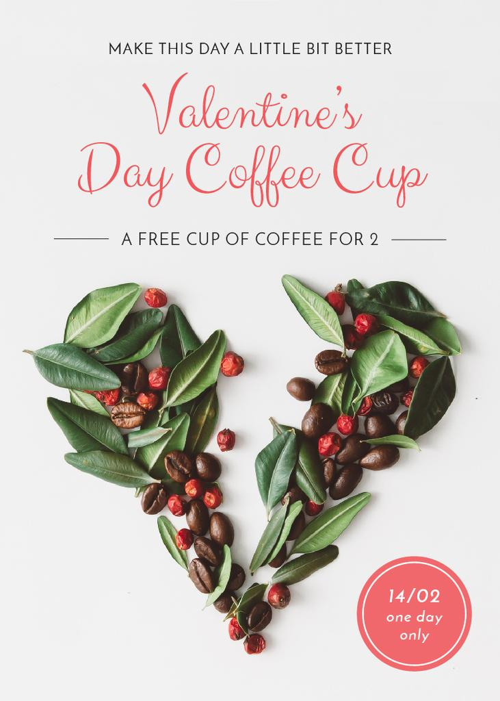 Valentine's Day Coffee beans Heart — Create a Design