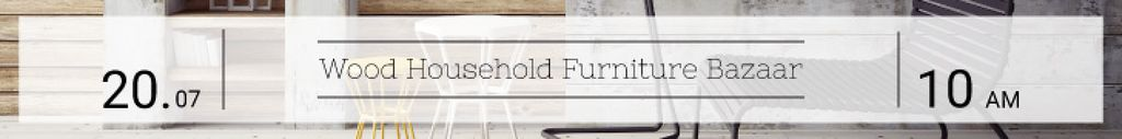 Household furniture bazzar banner — Crear un diseño