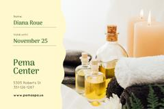 Spa Center Offer with Oils and Stones