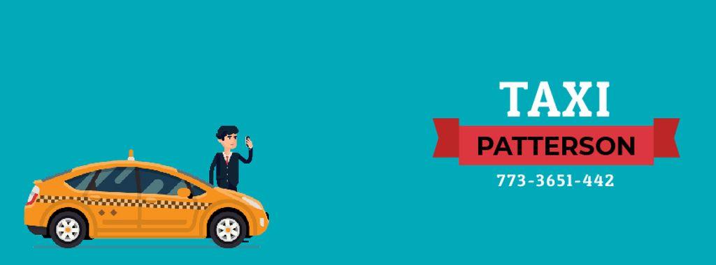 Man calling taxi by phone — ein Design erstellen