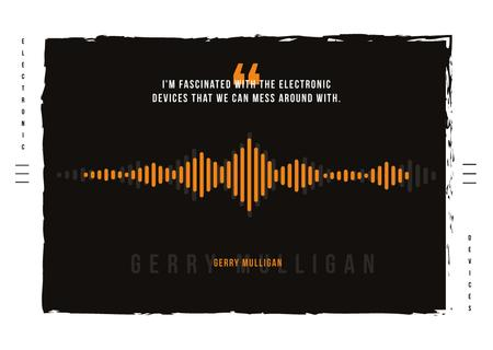 Equalizer Sound Waves Postcard Tasarım Şablonu