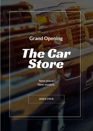 Car Store Grand Opening Announcement Poster Tasarım Şablonu