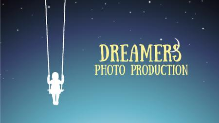 Template di design Dreamy Image of Girl on a Swing at Night Full HD video