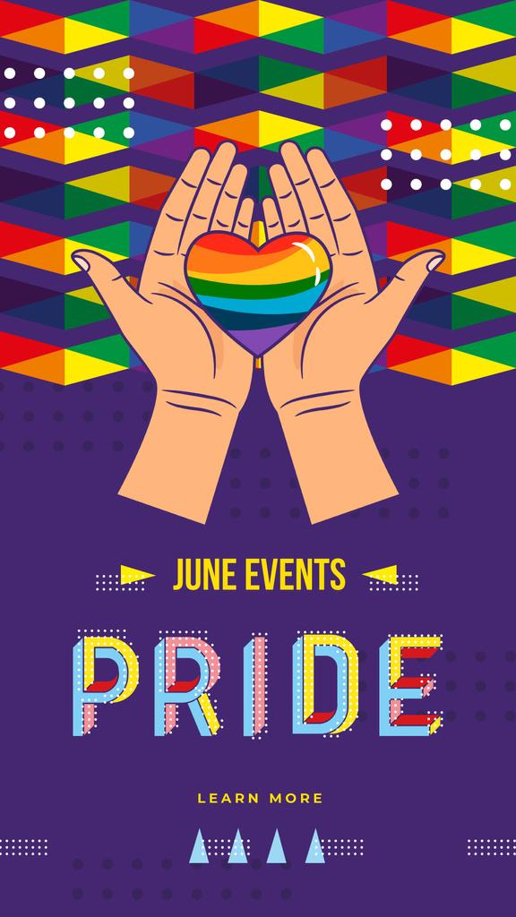 Hand holding Rainbow Heart — Crear un diseño