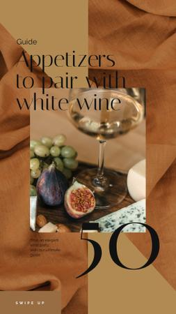 Winery Offer White Wine with Fruits Instagram Video Storyデザインテンプレート