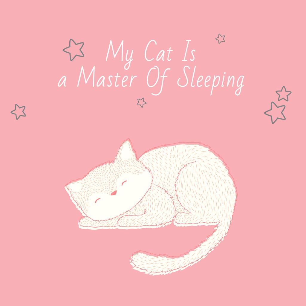 Citation about sleeping cat — Modelo de projeto