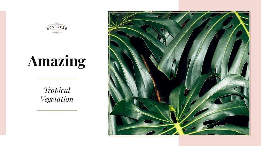 Tropical vegetation with Green Leaves — Crea un design