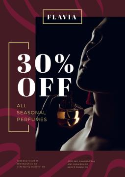 Perfumes Sale with Woman Applying Perfume