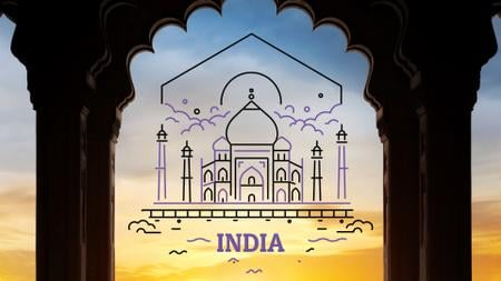 Tour Invitation with Taj Mahal Attraction Full HD video Modelo de Design