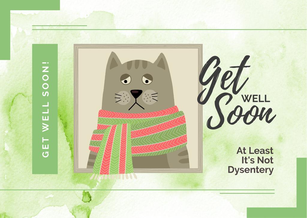 Sad Sick grey Cat — Maak een ontwerp