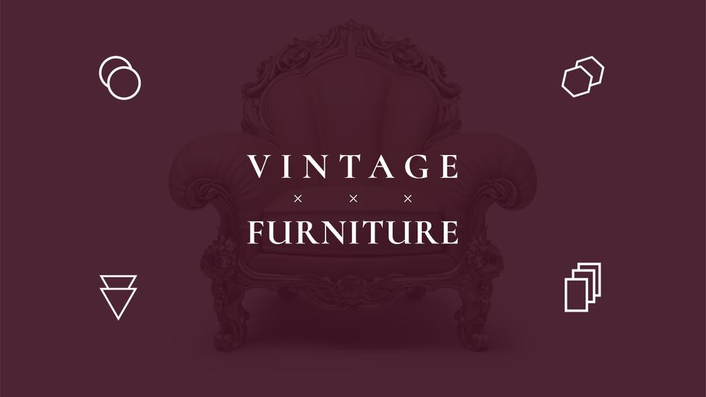 Antique Furniture Ad with Luxury Armchair — Создать дизайн