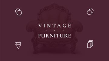Antique Furniture Ad Luxury Armchair | Youtube Channel Art