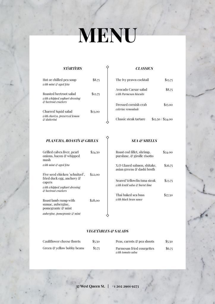 Restaurant tasty meal list — Créer un visuel