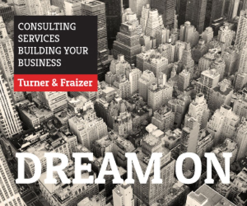 Consulting services advertisement — Créer un visuel
