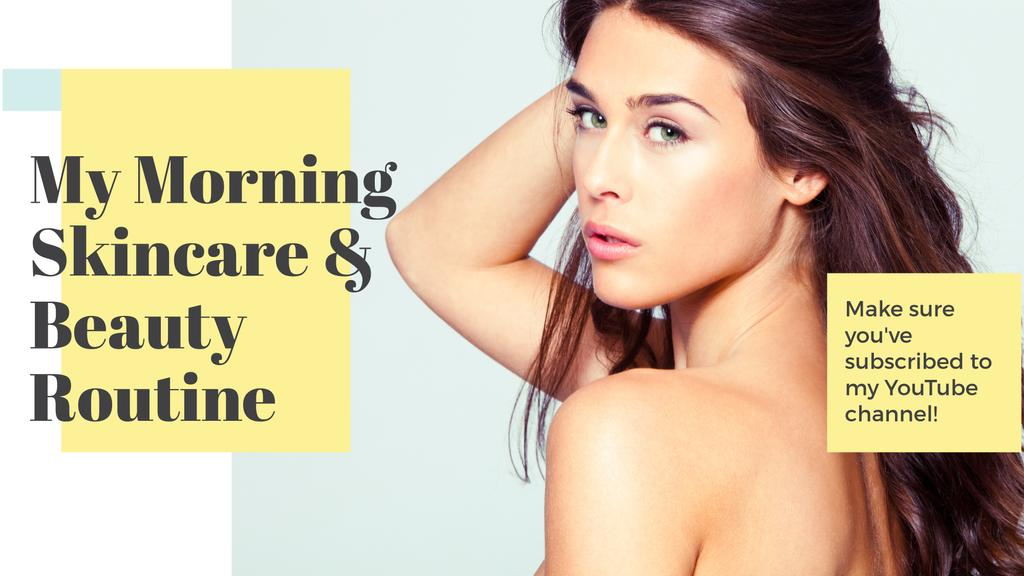 Beauty routine guide with Attractive Woman — Crear un diseño
