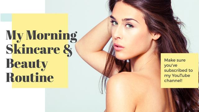 Szablon projektu Beauty routine guide with Attractive Woman FB event cover