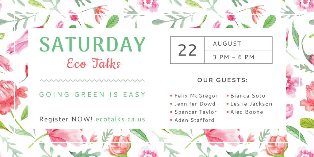 Saturday eco talks  — ein Design erstellen