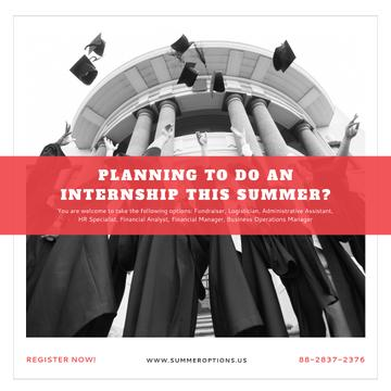 Invitation to summer internship