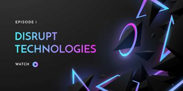 Digital Technologies ad on neon pattern