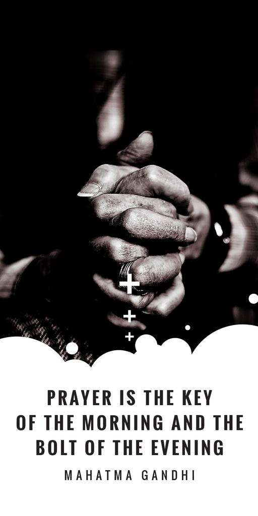 Hands Clasped in Religious Prayer — Crear un diseño