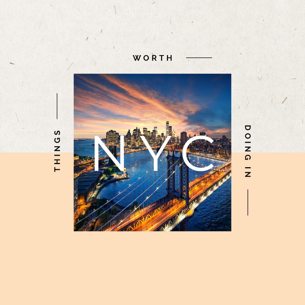 New York Night city View — ein Design erstellen