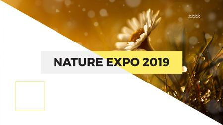 Template di design Nature Expo Announcement with Blooming Daisy Flower Youtube