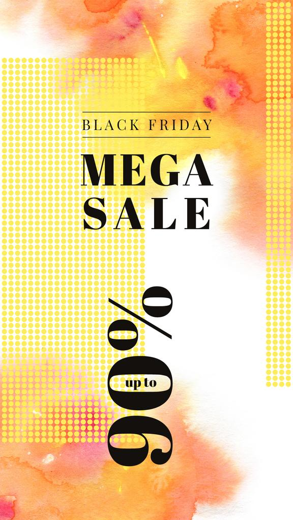 Black Friday Sale Yellow paint blots — ein Design erstellen