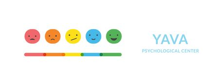 Designvorlage Scale with emotions and satisfaction für Facebook Video cover