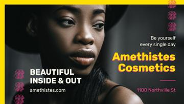Cosmetics Ad Beautiful African American Woman | Facebook Event Cover Template